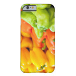 Yellow, red and green pepper on sale at farmer's barely there iPhone 6 case