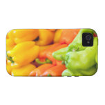 Yellow, red and green pepper on sale at farmer's Case-Mate iPhone 4 cases