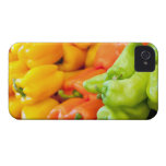 Yellow, red and green pepper on sale at farmer's iPhone 4 cases
