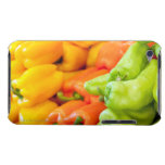 Yellow, red and green pepper on sale at farmer's iPod touch Case-Mate case