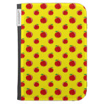 Yellow red apple pattern cases for the kindle