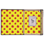 Yellow red apple pattern covers for iPad