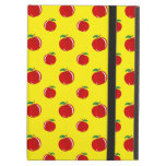 Yellow red apple pattern iPad covers