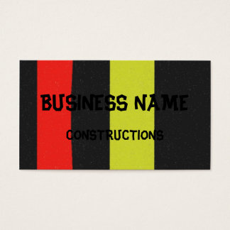 Yellow red black line pattern business card