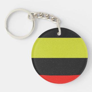 Yellow red black line pattern keychain