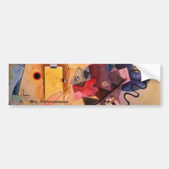 Yellow Red Blue Bumper Sticker
