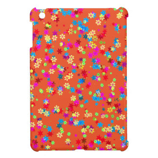 Yellow, Red, Blue, Green, Purple Flower. Tangerine iPad Mini Cases
