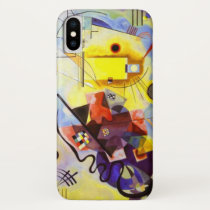 Yellow Red Blue Kandinsky Abstract Painting iPhone X Case