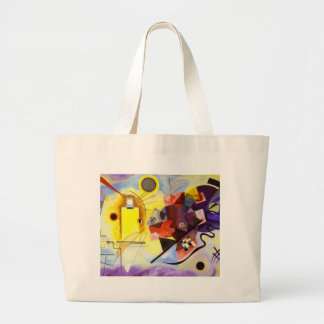 Yellow Red Blue Kandinsky Abstract Painting Large Tote Bag