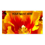 Yellow Red Business Cards Tulip Flower Unique