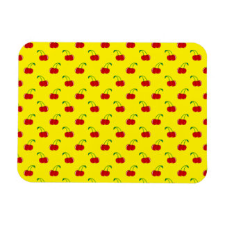 Yellow red cherry pattern vinyl magnets
