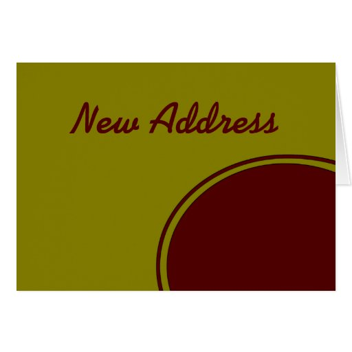 Yellow Red Circle New Address Cards