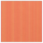 [ Thumbnail: Yellow & Red Colored Striped/Lined Pattern Fabric ]