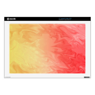 """Yellow Red Colorful Texture Decal For 17"""" Laptop"""