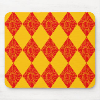 Yellow & Red Diamonds Mouse Pad