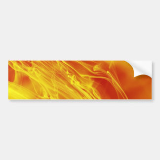 Yellow Red Fire Ink Drop Photography Bumper Sticker