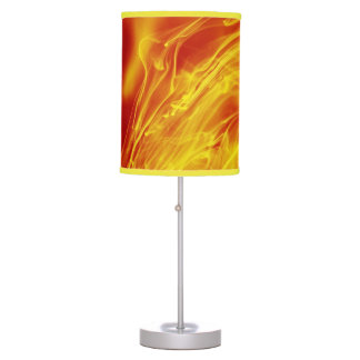 Yellow Red Fire Ink Drop Photography Lamp