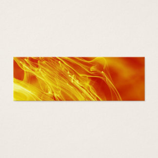 Yellow Red Fire Ink Drop Photography Mini Business Card
