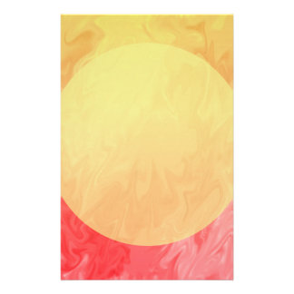 Yellow Red Flame Texture Stationery