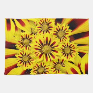 Yellow Red Gerbera Daisy Sunflowers Kitchen Towels