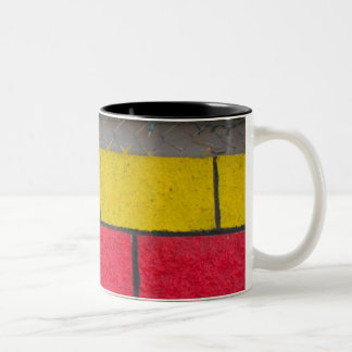 yellow red gray Two-Tone coffee mug