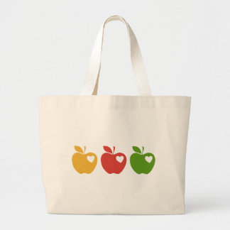 Yellow Red Green Apple Jumbo Tote Bag