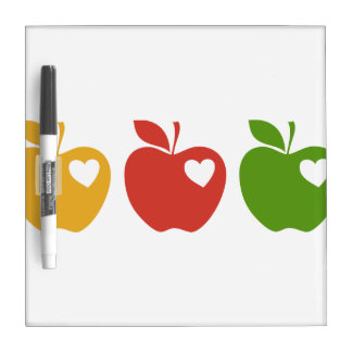 Yellow Red Green Apple Dry Erase Board