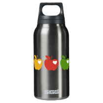 Yellow Red Green Apple Insulated Water Bottle