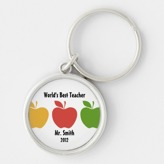 Yellow Red Green Apple Keychain
