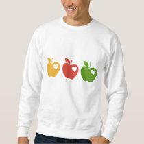 Yellow Red Green Apple Sweatshirt