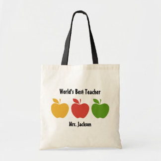 Yellow Red Green Apple Tote Bag