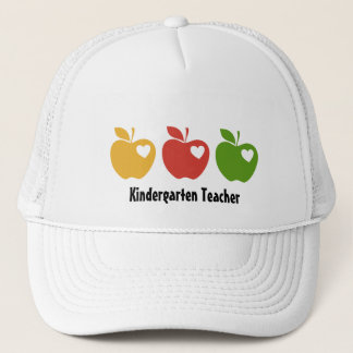 Yellow Red Green Apple Trucker Hat