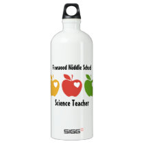 Yellow Red Green Apple Water Bottle