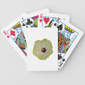 Yellow Red hibiscus bloom Bicycle Playing Cards