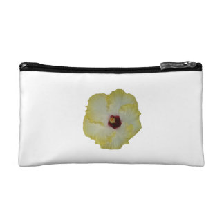 Yellow Red hibiscus bloom Cosmetic Bags