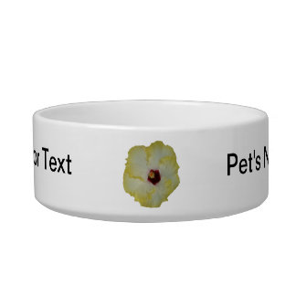Yellow Red hibiscus bloom cutout Bowl
