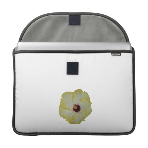 Yellow Red hibiscus bloom cutout Sleeve For MacBook Pro