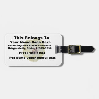 Yellow Red hibiscus bloom Luggage Tag