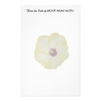 Yellow Red hibiscus bloom Stationery