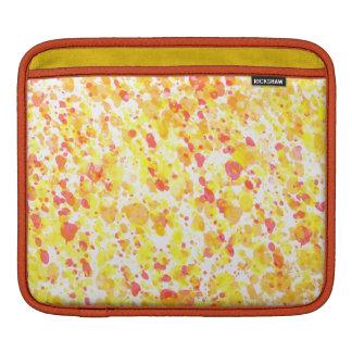 Yellow & Red Inky Splashes Pattern iPad Sleeve