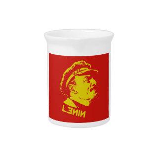 Yellow Red Lenin Communist Artwork Drink Pitchers