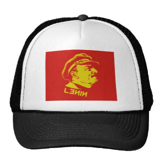 Yellow & Red Lenin Communist Artwork Trucker Hat