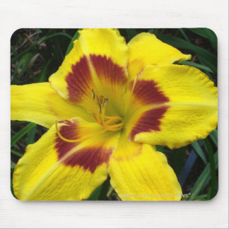 """Yellow Red Lily"" Mouse Pad"