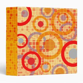 Yellow Red Mosaic Circle Avery Binder