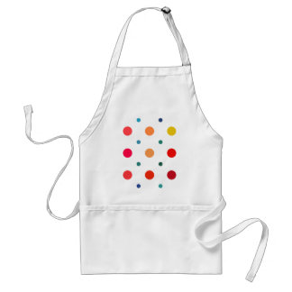 Yellow, Red, Orange, Brown, Green, Blue Polka Dots Apron