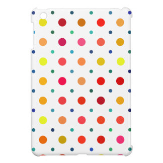 Yellow, Red, Orange, Brown, Green, Blue Polka Dots iPad Mini Cases