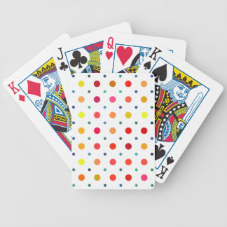 Yellow, Red, Orange, Brown, Green, Blue Polka Dots Poker Cards