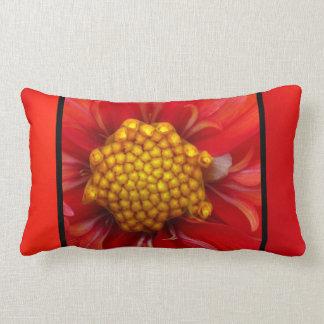 Yellow Red Orange Flower Pillow