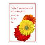 Yellow Red Orange Gerbera Daisy Wedding Invitation