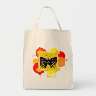 Yellow & Red Painted Tote  $15.95 Canvas Bag